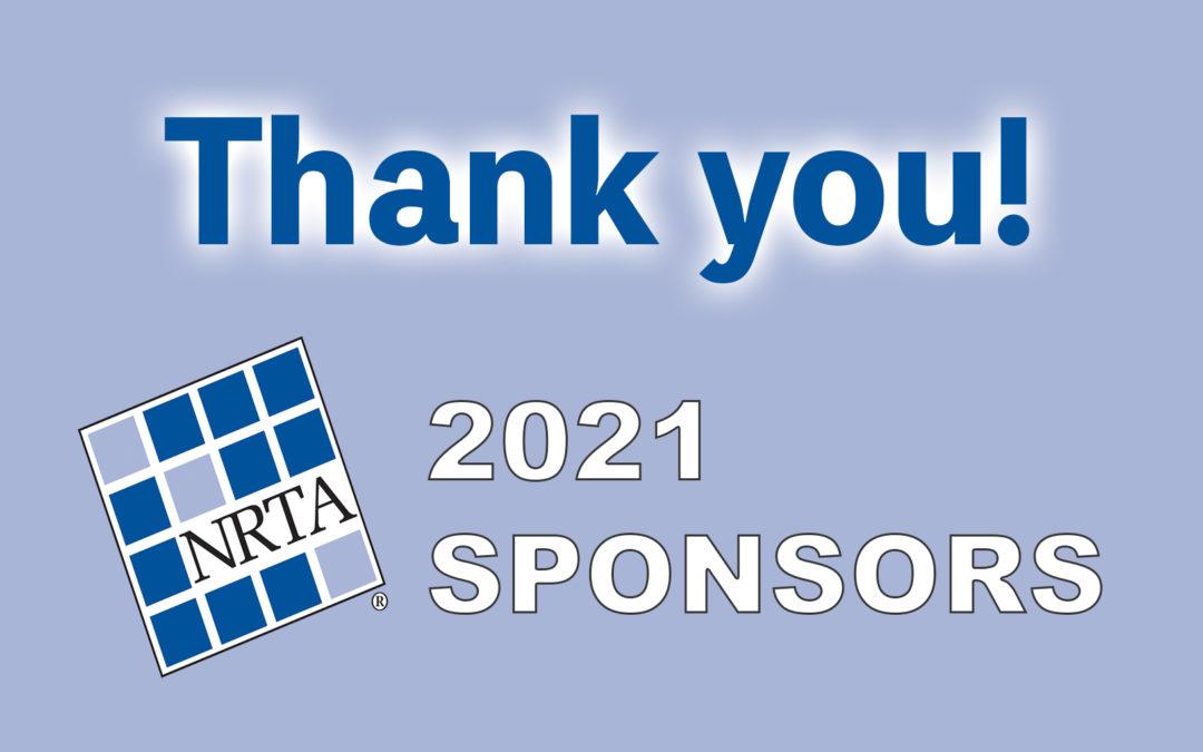 Thank you! NRTA applauds 2021 Sponsors