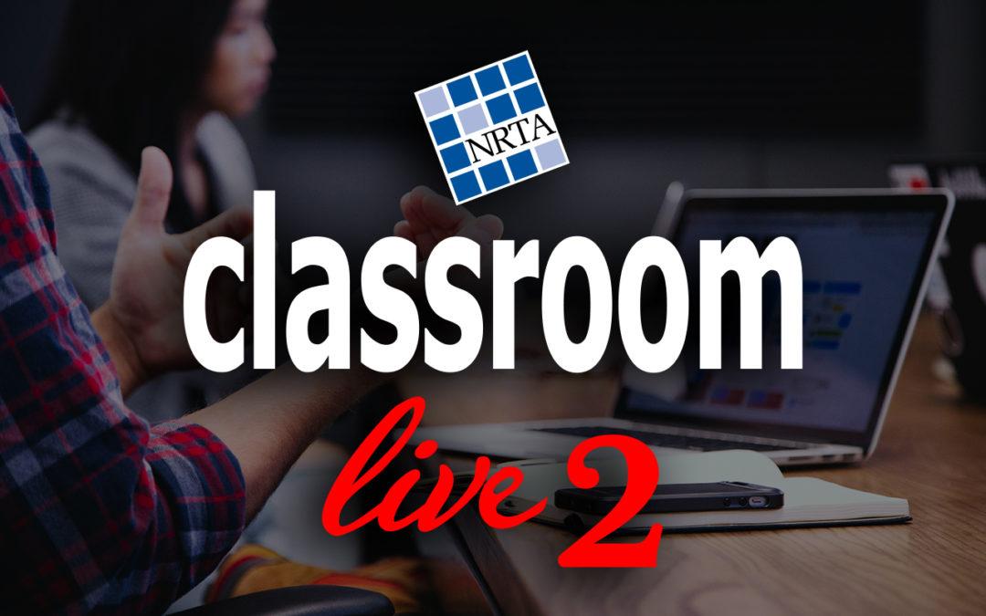 NRTA announces dates for Classroom Live repeat program